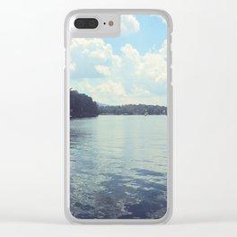 Smith Mountain Sunshine. Clear iPhone Case