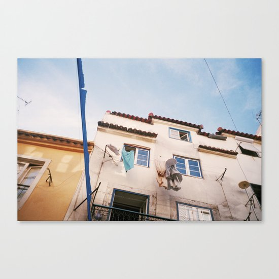 In the streets of Lisbon Canvas Print