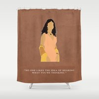 firefly Shower Curtains featuring Firefly - Inara by MacGuffin Designs