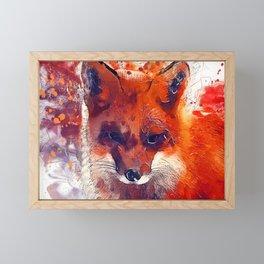 Red fox Framed Mini Art Print