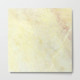 Marble with Okra Threads Metal Print