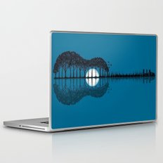 Trees sea and the moon turned guitar Laptop & iPad Skin