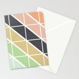 Retro Geometric Triangle Pattern Stationery Cards