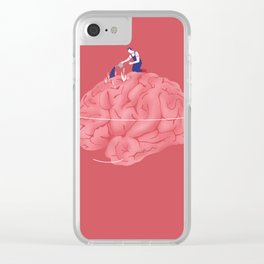 Brain care Clear iPhone Case