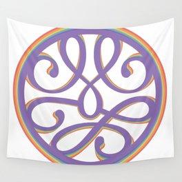 Rainbow mandala swoosh Wall Tapestry