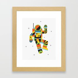 Hello Spaceman Framed Art Print