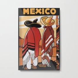 Mexico - Vintage Travel Poster Metal Print