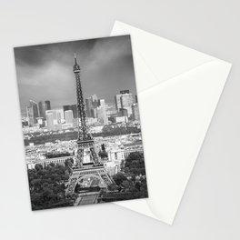 Paris Skyline | Monochrome Panorama Stationery Cards