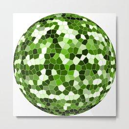 Green Prism Sphere Metal Print