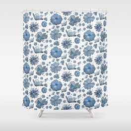 Delft Flowers Shower Curtain