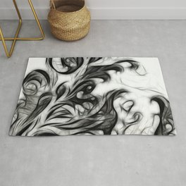 Glowing Floral Invert Rug