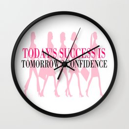 Success & Confidence Wall Clock