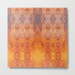 Visionary art. Fire seamless pattern. Metal Print