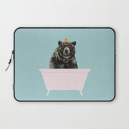 Big Bear in Bathtub Laptop Sleeve