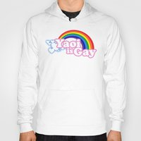 yaoi Hoodies featuring Yaoi is Gay (High Contrast Version with T-shirts) by merimeaux
