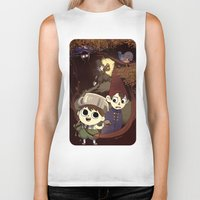 over the garden wall Biker Tanks featuring over the garden wall by Tae V