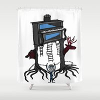 piano Shower Curtains featuring piano by JBLITTLEMONSTERS