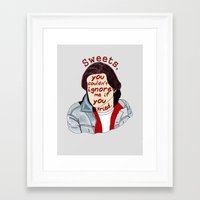 the breakfast club Framed Art Prints featuring The Breakfast Club - Bender by Swell Dame