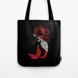 Tribal Scuba Flag Mermaid Tote Bag