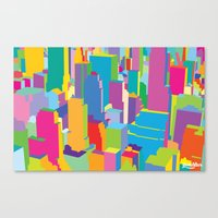 cityscape Canvas Prints featuring Cityscape by Glen Gould
