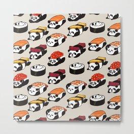 Sushi Panda Metal Print