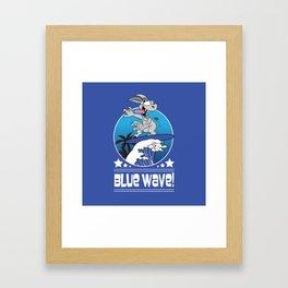 Democrat Donkey Blue Wave 2018 Midterm Voters Framed Art Print