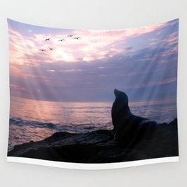 La Jolla Sea Lion Wall Tapestry