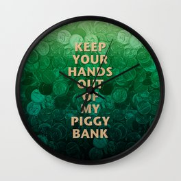 Private Property Piggy Bank Wall Clock
