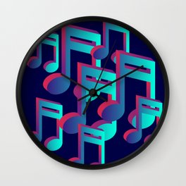 Musicial Notes Wall Clock