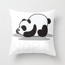 Panda: Lazy Panda Nope not Today Funny Panda Gift design Throw Pillow