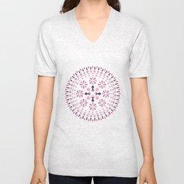 Mandala - Pink Unisex V-Neck