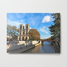 Notre Dame in Autumn Metal Print