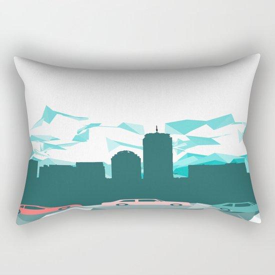 City, mountain and cars Rectangular Pillow