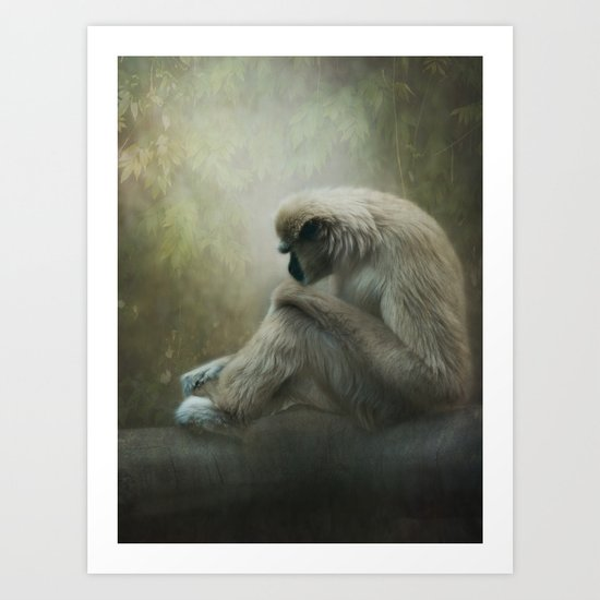 In my own world... Art Print