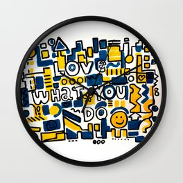 Fun LOVE and colorful art BED COMFORTER or Shower Curtain Wall Clock