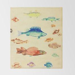 """Odilon Redon """"Fishes (Poissons)"""" Throw Blanket"""