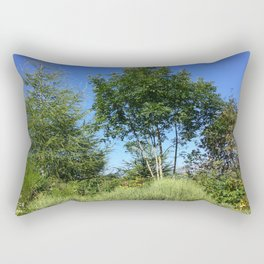 Trees and the mountain Rectangular Pillow