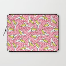 Low Down - banana memphis retro throwback vintage geometric neon pop art fruit summer spring  Laptop Sleeve