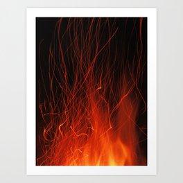 Fire 2010 Art Print
