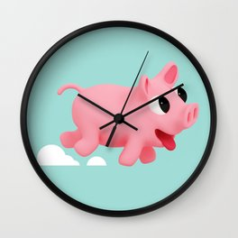 Rosa Running blue Wall Clock