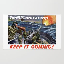 Your Metal Saves Our Convoys Rug