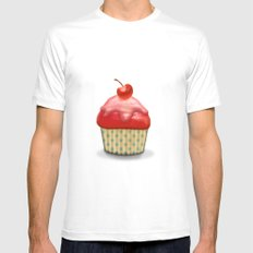 Muffin MEDIUM Mens Fitted Tee White