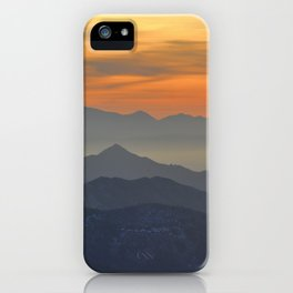Mountains. Foggy sunset iPhone Case