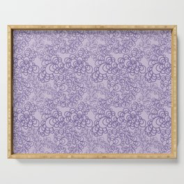 Purple Flower Doodle Serving Tray