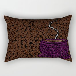 Cup O Type Typographic Coffee Cup Illustration Rectangular Pillow