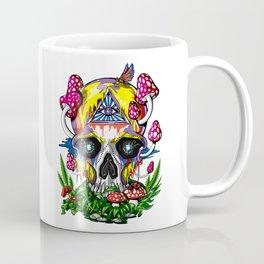 Magic Mushrooms Psychedelic Skull Coffee Mug