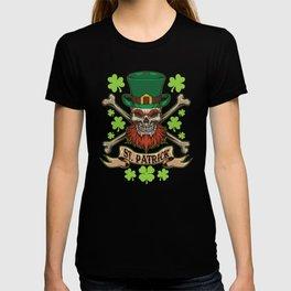 Irish Skull - St. Patrick Pirate - Lucky Bones T-shirt