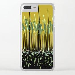 Grass Rhythm by Night Clear iPhone Case