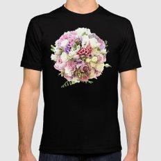 Flowers MEDIUM Black Mens Fitted Tee
