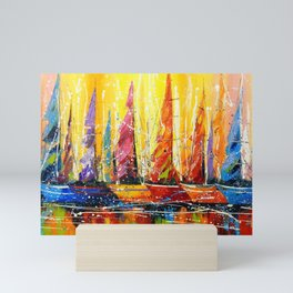 Bright sails  Mini Art Print